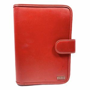 Franklin Covey Day One Red 7 Ring Snap Binder